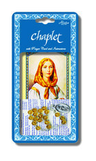 Chaplet of St. Dymphna with Topaz Colored Beads