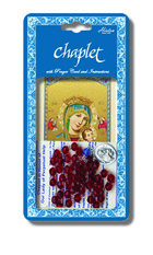 Chaplet of Our Lady of Perpetual Help with Red Colored Beads