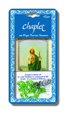 Chaplet of St. Jude with Green Colored Beads