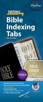Bible Tabs Gold Edged English including Catholic Books