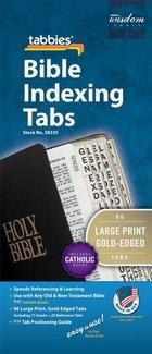 Bible Tabs Catholic LARGE PRINT Gold Edged