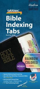Bible Tabs Catholic Rainbow Colored