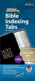 Bible Tabs Catholic Gold-Edged Mini