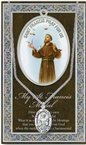 St. Francis of Assisi Pewter Medal and Prayer Folder