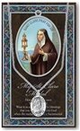 St. Clare Pewter Medal and Prayer Folder