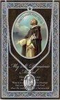 St. Dominic Pewter Medal and Prayer Folder