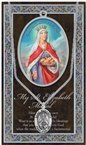 St. Elizabeth of Hungary Pewter Medal and Prayer Folder