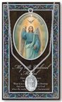 St. Gabriel Pewter Medal and Prayer Folder
