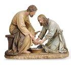 "Statue Jesus Washing Feet 6.5"""