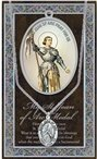 St. Joan of Arc Pewter Medal and Prayer Folder