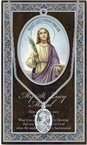 St. Lucy Pewter Medal and Prayer Folder