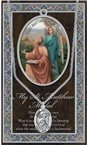St. Matthew Pewter Medal and Prayer Folder