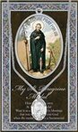 St. Peregrine Pewter Medal and Prayer Folder