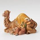 "5"" Cyrus, boy with camel - creche piece - Fontanini"