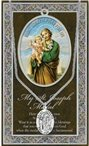 St. Joseph Pewter Medal and Prayer Folder