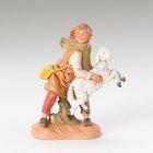 "5"" Aaron - Shepherd Boy with Sheep - creche piece - Fontanini"