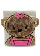 Tiny Bears Bible Board Book Fur Covered w/Cub Face & Ears w/Pink Ribbon/Bib Outfit