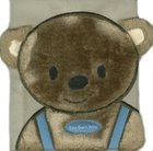 Tiny Bears Bible Board Book Fur Covered w/Cub Face & Ears w/Blue Bib Outfit