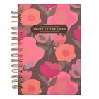 Journal Trust in the Lord [Wirebound] Coral Floral