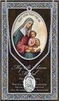 St. Anne Pewter Medal and Prayer Folder