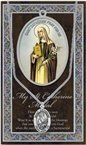 St. Catherine of Siena Pewter Medal and Prayer Folder