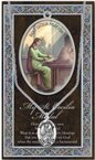 St. Cecilia Pewter Medal and Prayer Folder