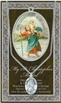St. Christopher Pewter Medal and Prayer Folder